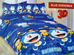 Bonita Motif  Blue Doraemon